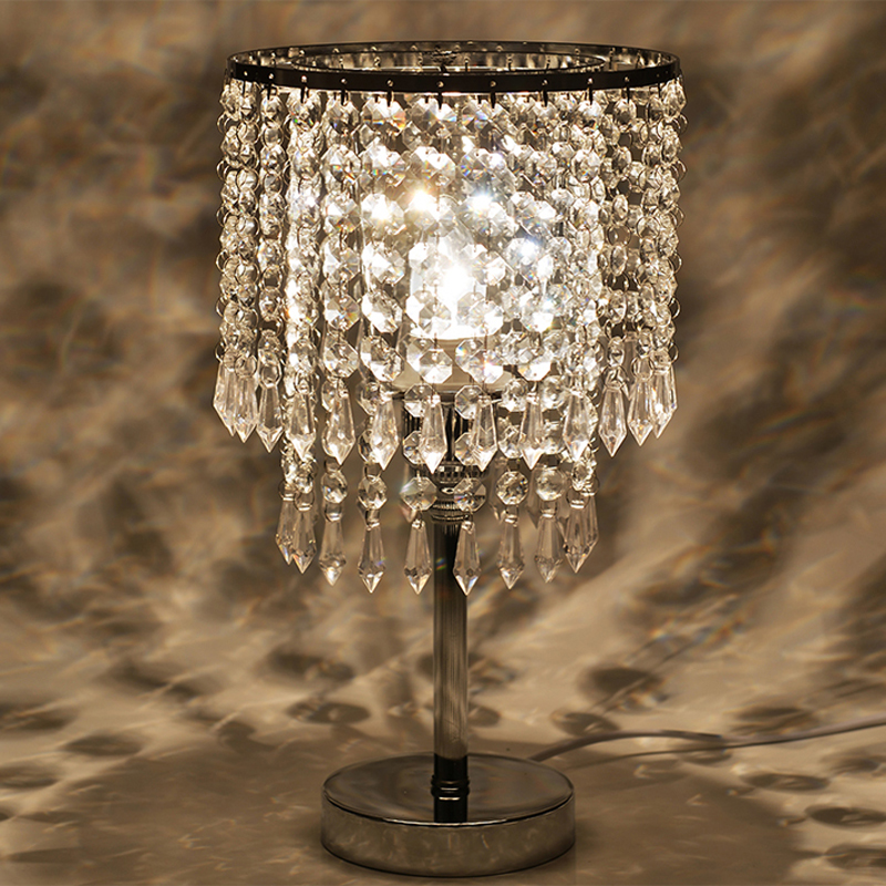 Reading room foyer Tiffany glass crystal table lamp sitting room crystal table light room Bedroom Bedside