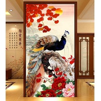 5D DIY Diamond Embroidery Maple Peacock Pictures Home Decor Fully Resin Round Or Square Rhinestone Needlework