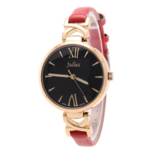 Леди женщина наручные часы кварцевых часов лучший модное платье корея браслет бренд конфеты кожа элегантная девушка подарок JA747