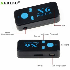 Image 5 - Kebidu X6 Adapter Bluetooth Receiver Auto Car Bluetooth Aux Kit Support TF Card A2DP Audio Stereo Bluetooth HandFree Receiver