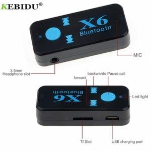 Image 5 - Kebidu X6 อะแดปเตอร์ Bluetooth Auto รถบลูทูธ AUX TF Card A2DP สเตอริโอแฮนด์ฟรี Bluetooth Receiver