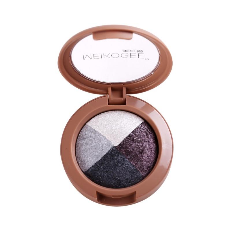 Four - color eye shadow waterproof pearlescent baking eye shadow plate baked eye shadow plate Women Makeup Eyeshadow Palette D