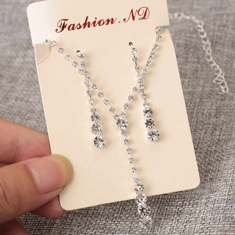 Jewelry Sets Real 2018 New Europe And The Simple Bride Necklace Ear Pin Set Wedding Jewelry Wholesale Earrings for Women
