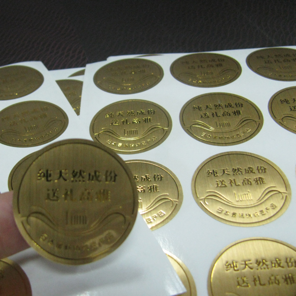 Custom gold foil label self adhesive sticker label printing with no moq
