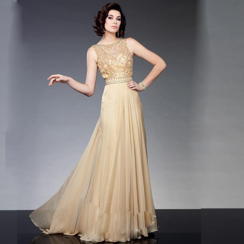 7325b9fdd13a Madrina vestido de fiesta para la boda Champagne gasa cristalino de ...
