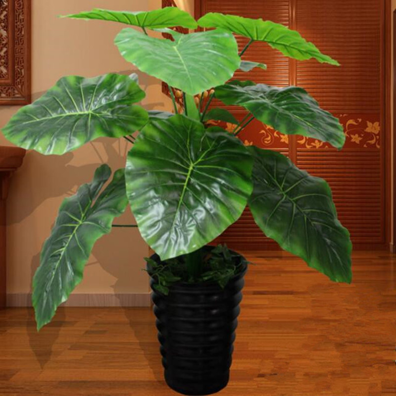 80cm Latex Artificial Evergreen Guanyin Plant Tree in Wedding Home Beach Office Furniture Decor Green Fake