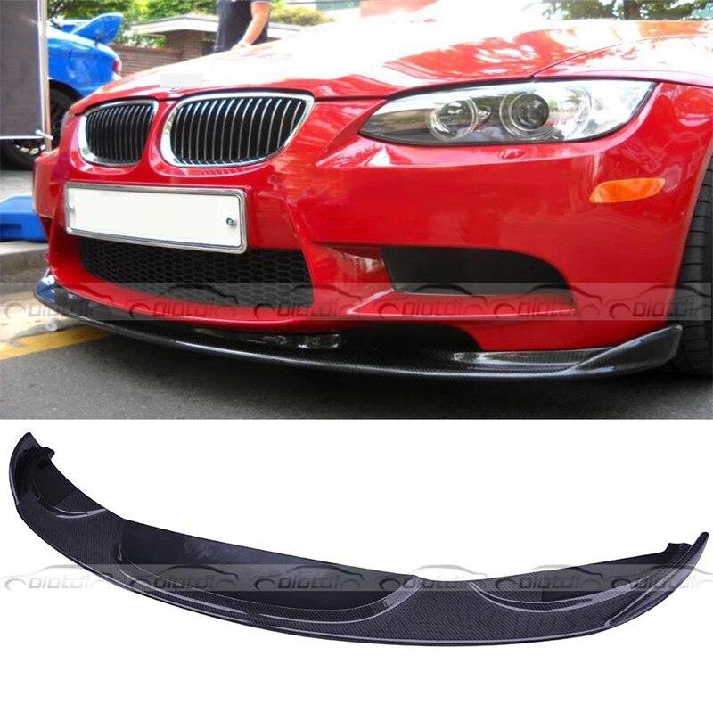 OLOTDI For BMW E92 E93 M3 H Style 2008 2013 Front Lip Coupe 2 door Carbon Fiber Apron