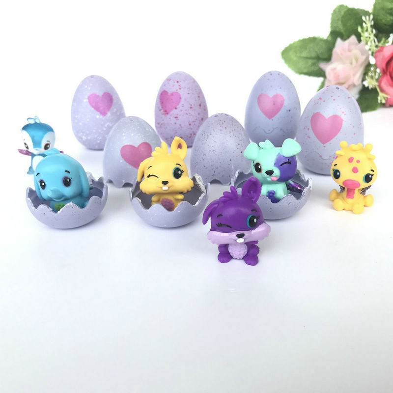 4PCS/Lot Hatching Animals Toys Egg Magic Hatch Incubation Eggs Kids Interesting Creative Smart Magic Pet Toy Gift Type Random