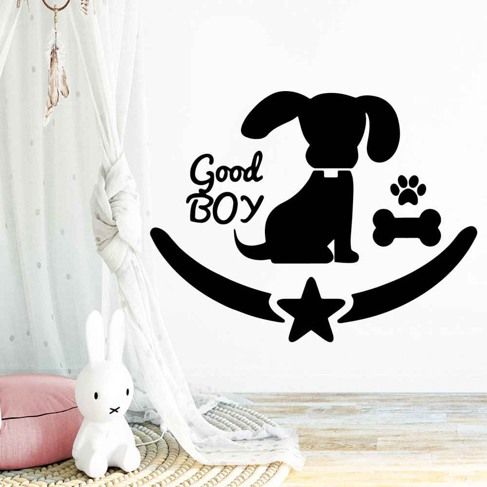 Creative little dog Wall Sticker Decor For Living Room Bedroom Removable Background Art Decal
