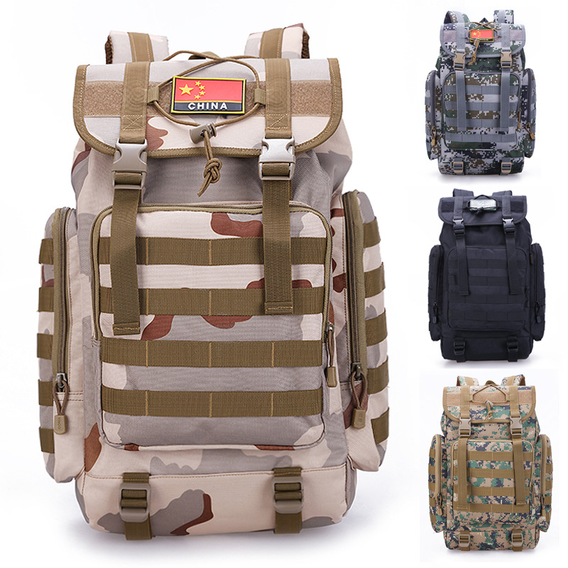 55L Outdoor Large Capacity Backpack Army Fans Tactical Mountaineering Bag Sports Travel Waterproof Backpack A5136 large capacity outdoor sports backpack travel on foot casual double shoulder mountaineering bag a5104