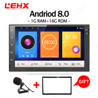 Android 8.0 Car Radio 7 inch 2din DVD 1024x600 GPS Navigation Bluetooth 2 din Universal For Nissan VW Toyota Peugeot Player RDS