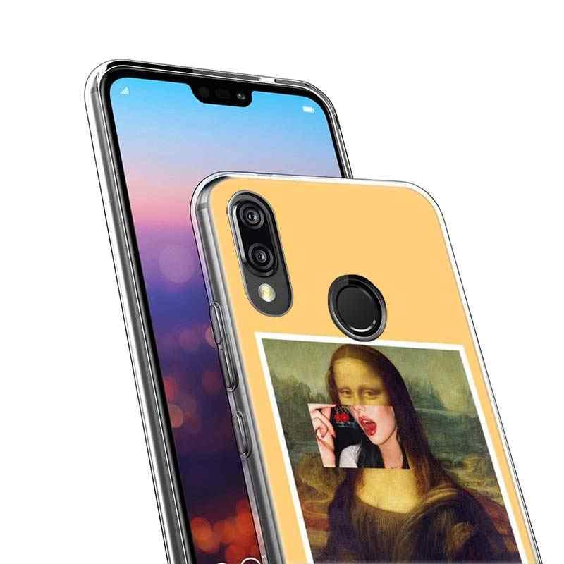 Забавный художественный чехол Mona Lisa для huawei P20 P Smart 2019 Nova 3i 4 P8 P9 mini 2017 P30 lite Pro силиконовый мягкий ТПУ чехол для телефона