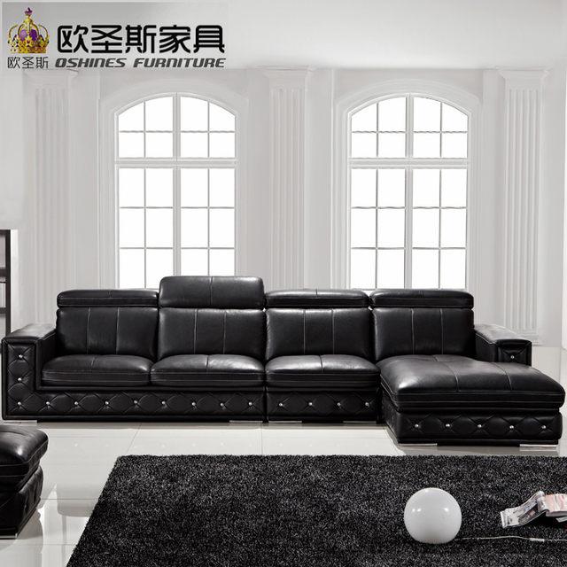 Buy Sofa Set Online Latest Sofa Designs 2016 Black L Shaped Modern Corner  Leather Sofa Germany With Adjustable Backrest Sofa F36