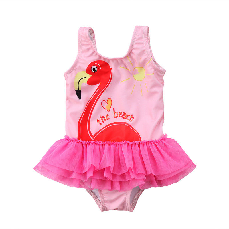 2018 Brand New Toddler Infant Child Cute Kids Baby Girl Tankini Bikini Swimwear Swimsuit Bathing Suit Flamingo Beachwear 1-6Y fossil grant fs5068