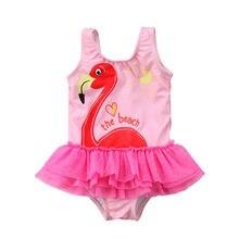 2018 Brand New Toddler Infant Child Cute Kids Baby Girl Tankini Bikini Swimwear Swimsuit Bathing Suit Flamingo Beachwear 1-6Y