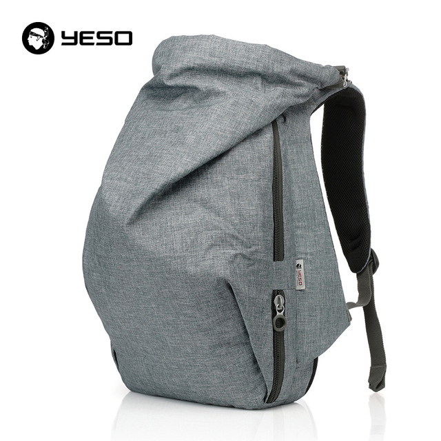 ede0458f6cf YESO Large Capacity Backpack Men Business Casual Travel Backpacks 2018 New Multifunction  Oxford Blue-Gray Backpack For Trip Bags
