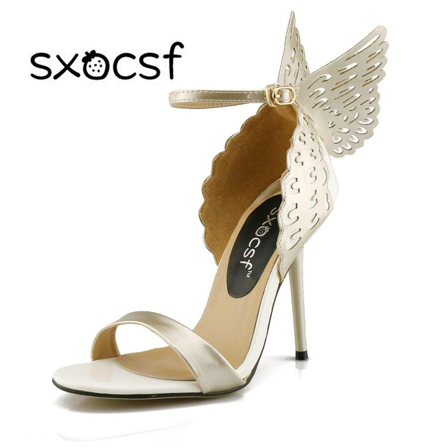 2017 Nova moda Elegantne seksi super štikleto pete Peep Toe s pasom Bowtie sponke ženske čevlje črpalke Party marelice vijolično zlato