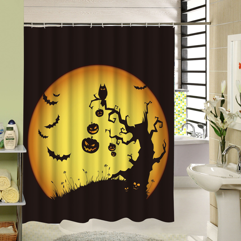 Halloween shower curtain - Charmhome Amazing Halloween Shower Curtains Fashion Beautiful Bathroom Products High Quality Waterproof Shower Curtain China