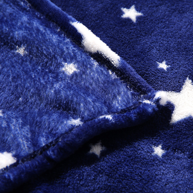 Stars Galaxy Blanket blue flannel Fleece Plaid sofa Throws winter bedsheet twin queen king Plaid