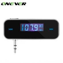 ONEVER автомобильный fm-передатчик для Совместимый со смартфонами через Bluetooth Беспроводной Авто плеер аудио устройств fm-модулятор ЖК-дисплей Дисплей автомобильные аксессуары