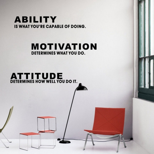 Delightful Inspirational Quotes Ability Motivation Attitude DIY Wall Sticker Art Vinyl Wall  Decal Home Office Decor