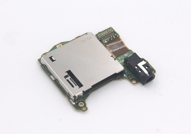 3pcs Game Card slot with headset motherboard Replacement repair parts For Nintend Switch NS Switch Game Console