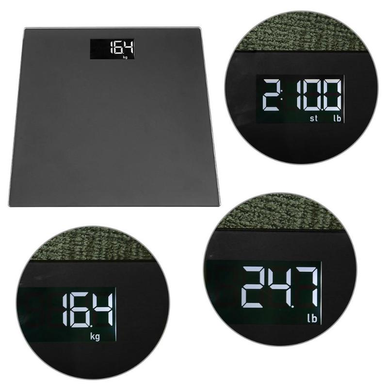 Portable LCD Digital Body Scale High Precision Electronic Bathroom Scales Home Health Weight Balance Scale with Bracket
