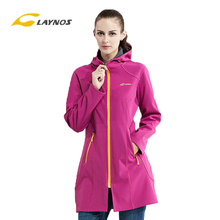 Outdoor women long sleeve cotton softshell jackets,female waterproof & windproof & thermal jacket 161F369B