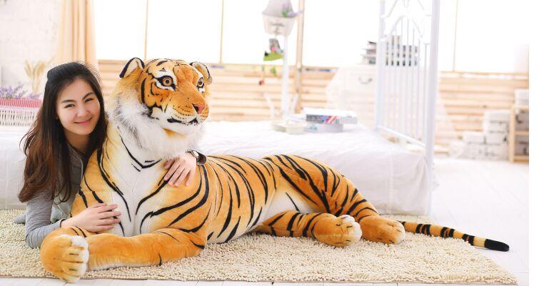 Dessin animé créatif simulation sujet tigre plus grande 170 cm en peluche dos coussin jeter oreiller jouet décoration de la maison cadeau d'anniversaire a1269 - 2