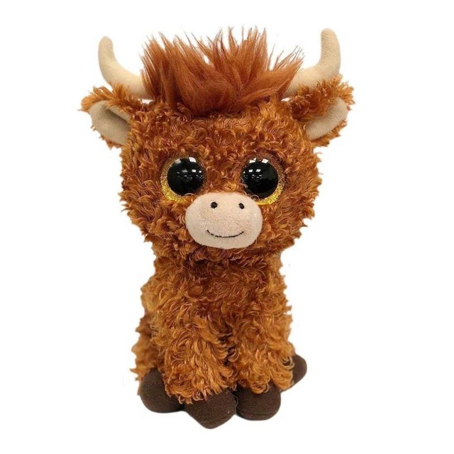 Ty 6 15cm Beanie Babies Boos Angus The Scottish Highland Cow Boo