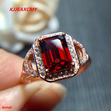 KJJEAXCMY fine jewelry 925 sterling silver Pure silver with natural garnet ring. natural purple tooth garnet garnet ring classic garnet s925 sterling silver jewelry free shipping