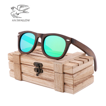 New bamboo brown rice nailed bamboo wooden Sunglasses retro fashion trend men's Sunglasses anti-ultraviolet anti-glare Sunglasse цена