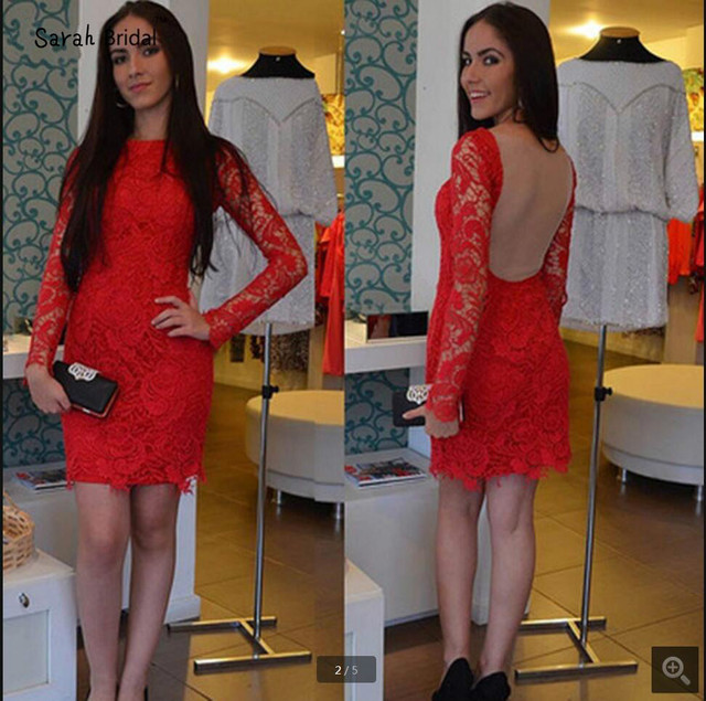 1d708adcfc16e US $96.39 19% OFF|Free shipping red lace sheath column homecoming dress  short backless sexy long sleeve homecoming gowns hot sale-in Homecoming ...