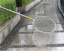 Stainless Steel 210cm Retractable Fishing Net Telescoping Foldable Landing Net Pole Folding Landing Net