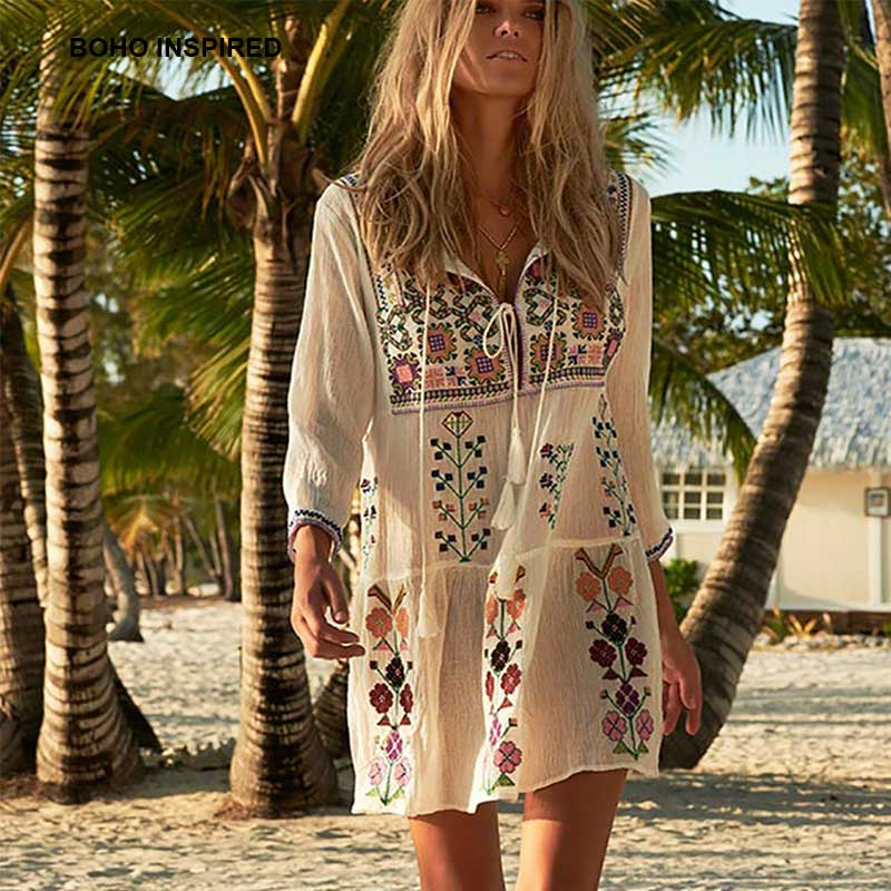 boho inspired floral embroidered bohemian chic women's
