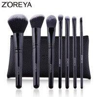 ZOREYA7 шт., Профессиональные кисти для макияжа, черная классическая деревянная ручка, набор кистей для макияжа, румяна, основа, пудра, косметич...