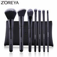 ZOREYA7 PCS Professionale Spazzole di Trucco Nero Classico Manico In Legno Make Up Brush Set Blush, fard Prodotti di base In Polvere Strumenti di Cosmetici