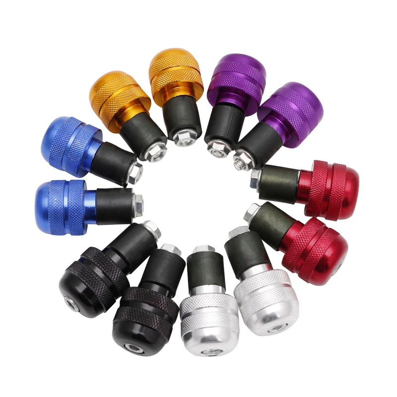 """2019 New Hot New 1 Pair 7/8"""" Motorcycle Anti Vibration Handle Bar End Plug Grip Ends Caps 22mm 6 Colors"""