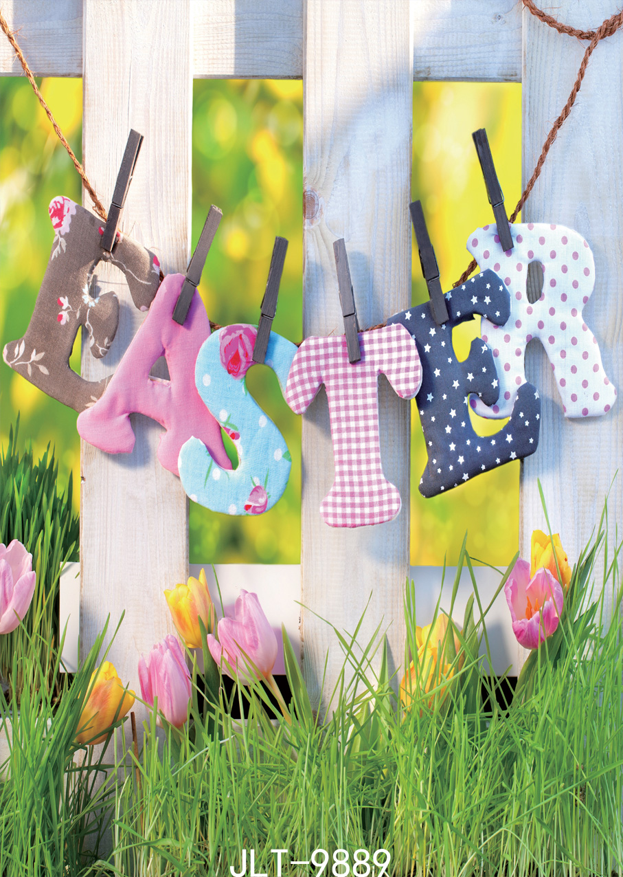 Photographic Background Printed Spring Flowers Easter Eggs 5x7ft