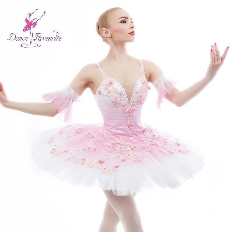 Stunning pink professional dance costume ballet tutu ballerina classical pancake tutu girl & women customer size ballet tutu