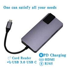 USB Gigabit Ethernet Adapter 1000Mbps Type c Hub 3.0 4K HDMI USB-C PD 2.0 Charging Multi Port HUB Network Card Rj45 Lan Splitter все цены