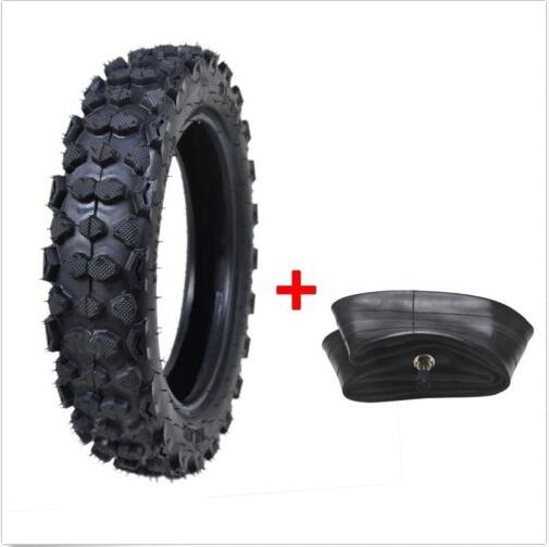 """Mountain States Toyota Coupons: 3.00 10 80/100 10"""" Inch Rear Knobby Tyre Tire + Tube PIT"""