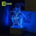 Творческие Подарки Акриловые USB Лампа Паук 3D Night Lights Сенсорный Диммер LED Lampara Home Decor Дети Спящая Ночная