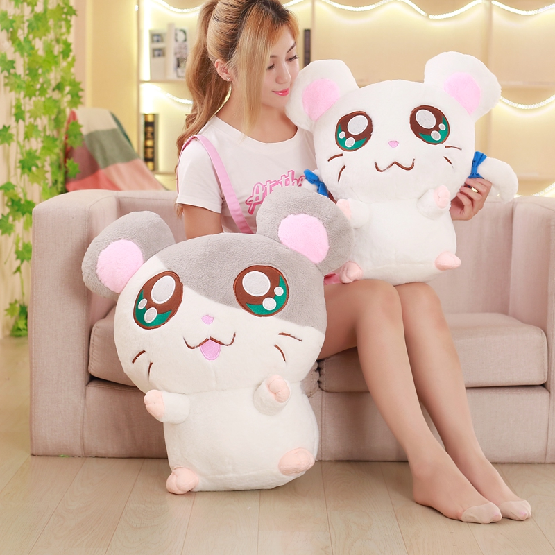 1PC 40cm Cute Hamster Mouse Plush Toy Stuffed Soft Animal Hamtaro Pilloq Kawaii Birthday Gift for Children Lovely Kids Baby Doll 1pc hot sell interesting sing and dancing frantically laying hens under electric plush toy cute doll for kids great gift