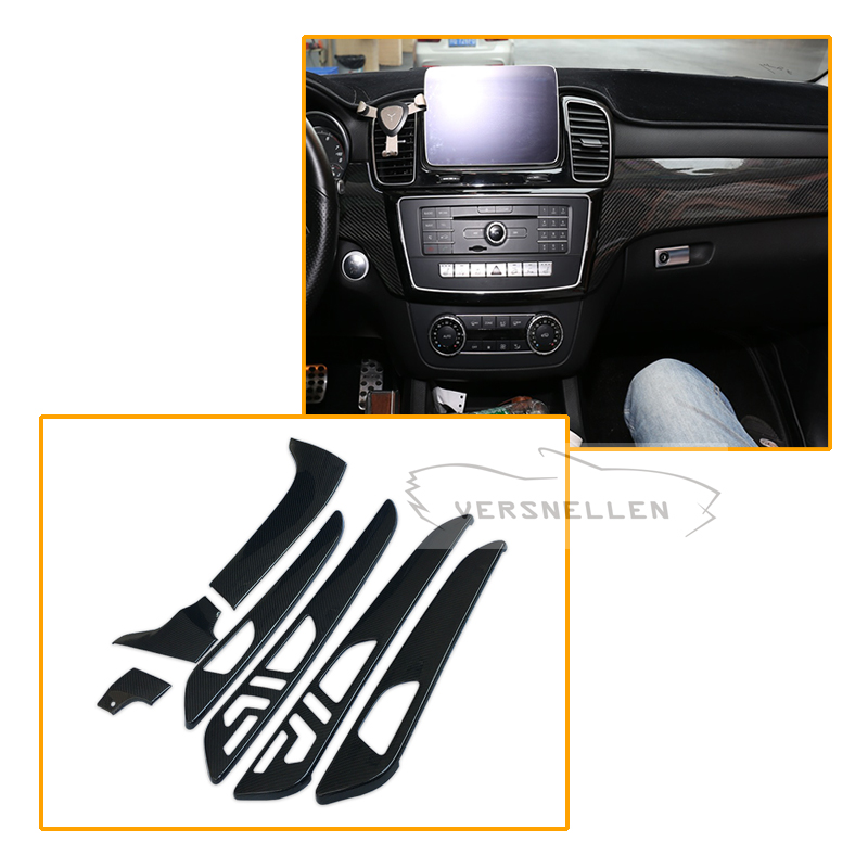 7pcs Carbon fiber Interior Part For Mercedes Benz G Class W463 GL X166 GLE M Dry Fiber Trim Cover