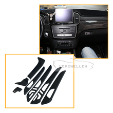 7pcs Carbon fiber Interior Part For Mercedes Benz G Class W463 GL X166 GLE M Dry Fiber Trim Cover