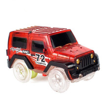 1pcs Electronics LED Car Toys Flashing Lights Boys Birthday Gift Kids Toy Play with Tracks Together