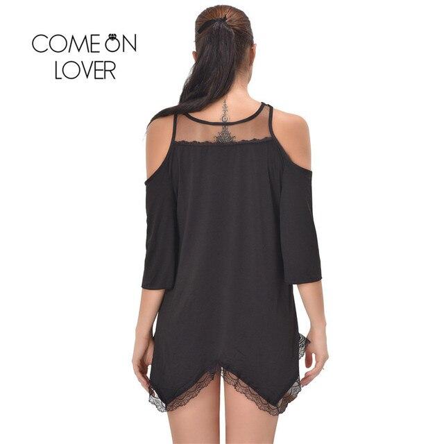RI80190 Comeonlover Women Pajamas Sleepwear Plus Size Lingerie 5XL,7XL Hollow Shoulder Nightdress Exotic Sexy Lingerie Babydolls 2