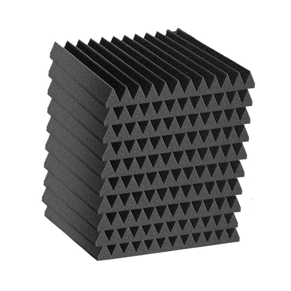 10 PCS Acoustic Panels Studio Foam Wedges Absorption Foam 1inch X 12 Inch X 12inch
