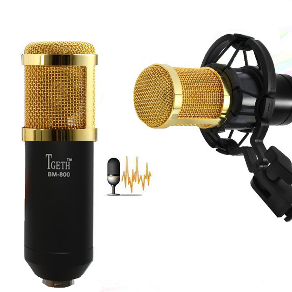 tgeth bm800 professional condenser sound recording microphone with shock mount for radio. Black Bedroom Furniture Sets. Home Design Ideas
